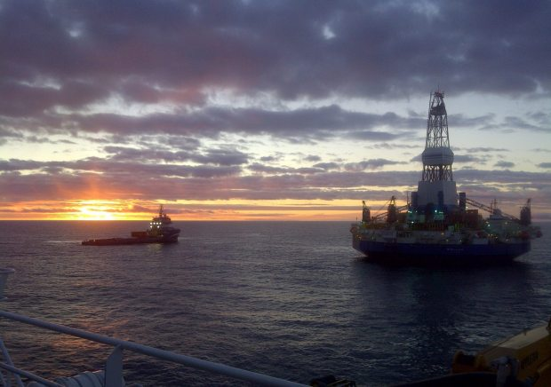 Drillship Kulluk, 2012 - photo courtesy Royal Dutch Shell