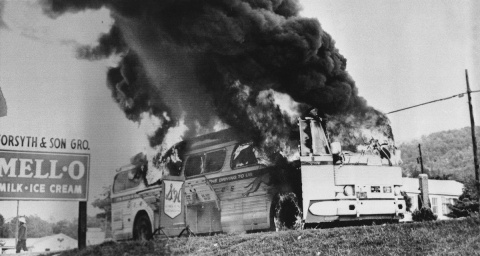 freedom-riders-bus-burning-1961-photo-courtesy-national-park-service